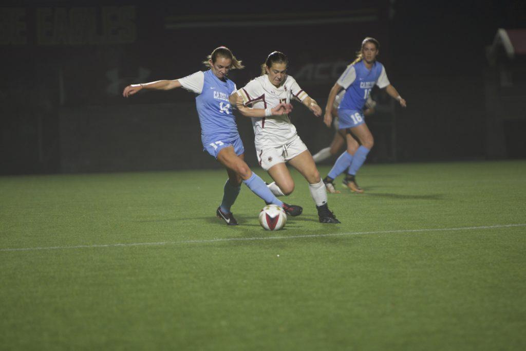 Slow Start Dooms Women's Soccer Versus No. 3 UNC