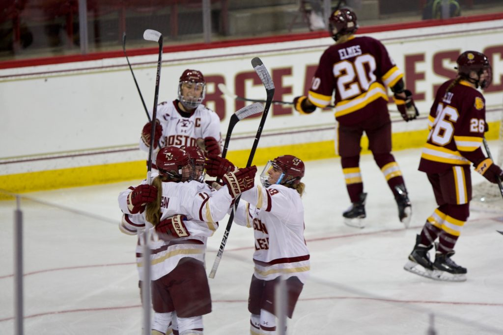 Lonergan, Women's Hockey Get Off to Hot Start in Season Opener