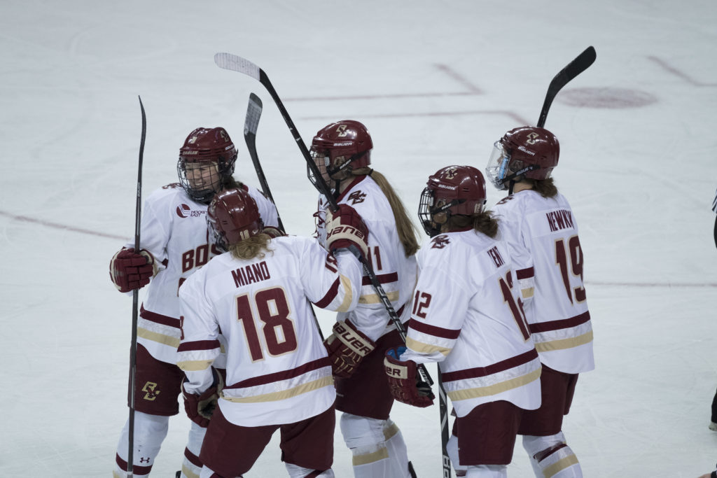 Women's Hockey Explodes for Season-High Eight Goals at Harvard