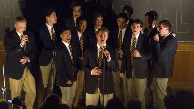 Heightsmen Serenade With Upbeat, Intricate Harmonies