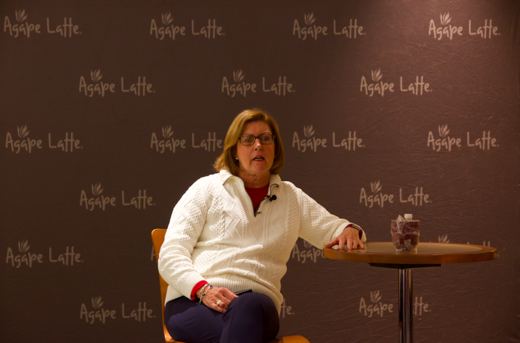 At Agape Latte, Cullinan Reflects on Power of Prayer