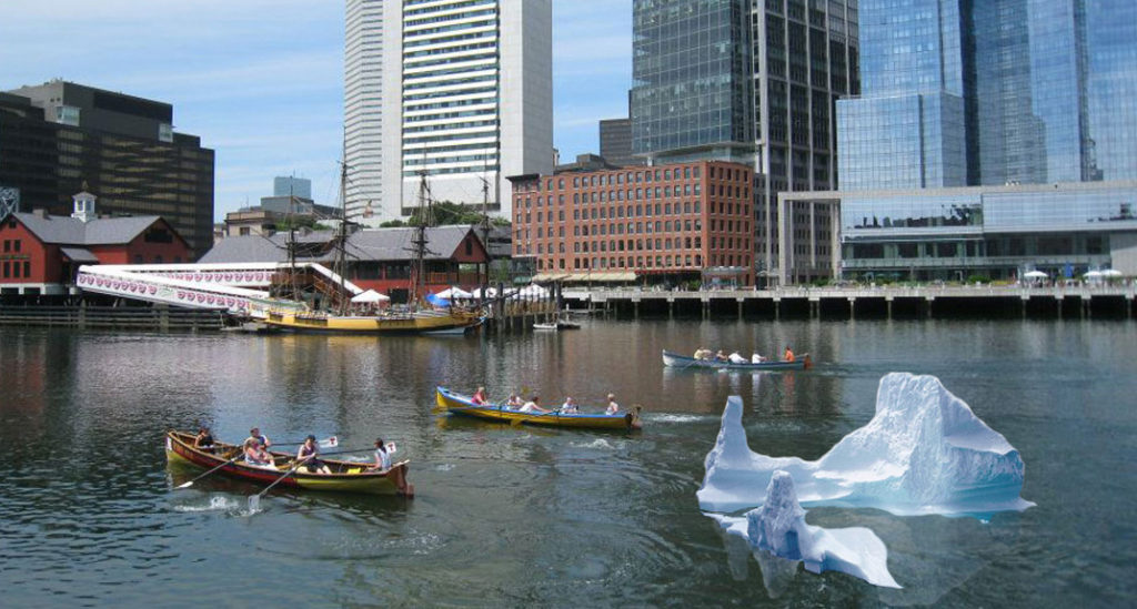 Fort Point Iceberg Installation Brings Awareness to Climate Change