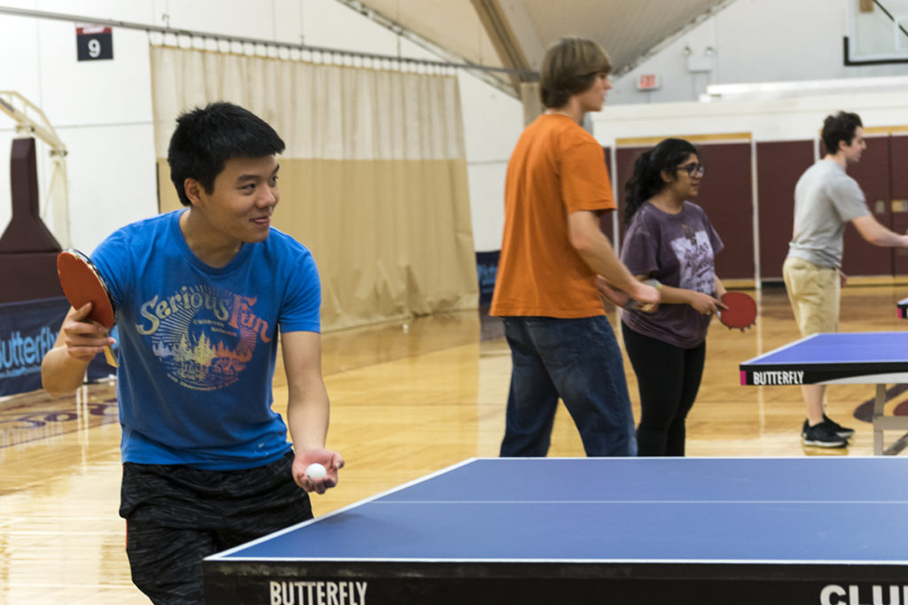 Students Take to the Table for Ping Pong Tournament