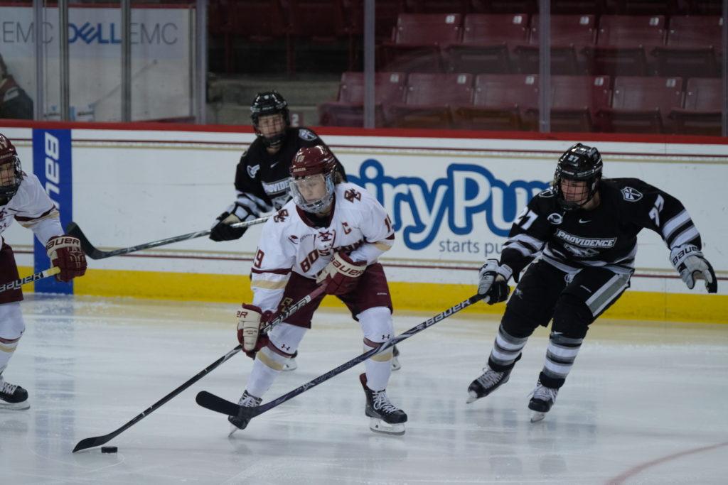 Women's Hockey Tallies Seven Goals in Win Versus Providence
