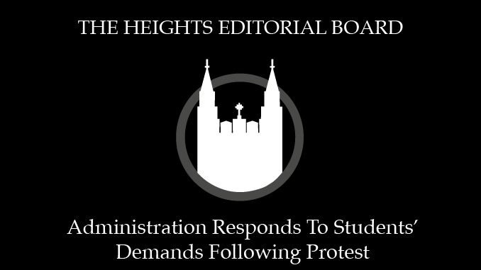 Admin's Response is Necessary Acknowledgement of Student Demands