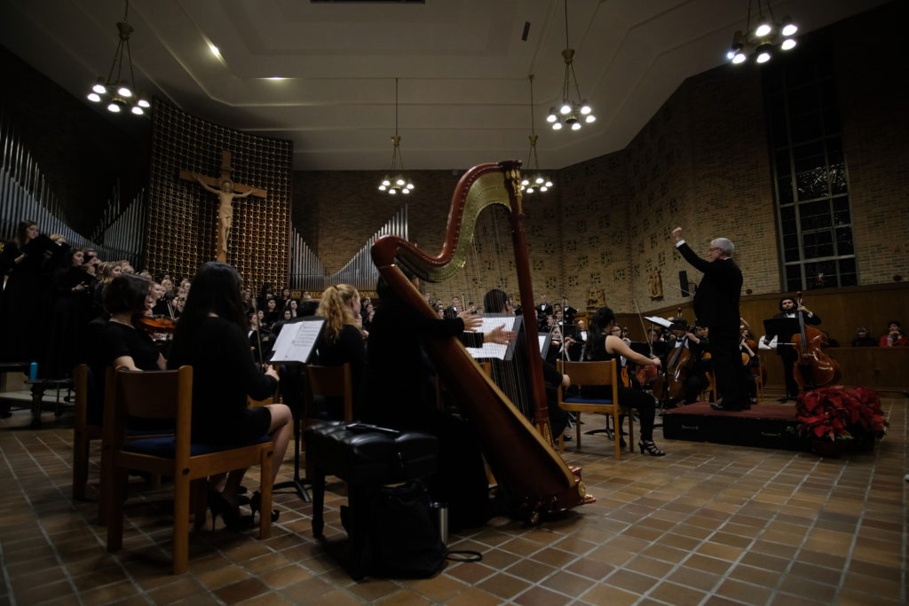 University Chorale, Symphony Orchestra Spread Christmas Cheer