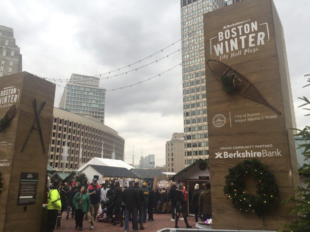 Boston City Hall Plaza Hosts a Spirited Winter Market