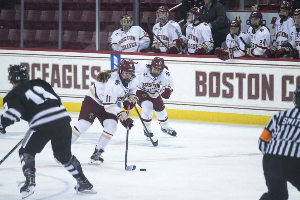 Watts, Lonergan Headline Most Prolific Team in College Hockey