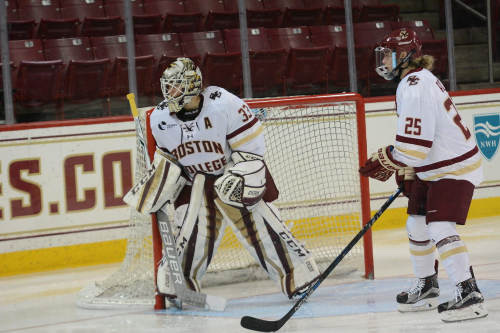 Burt Makes History, BC Clinches Hockey East Regular-Season Title at Providence