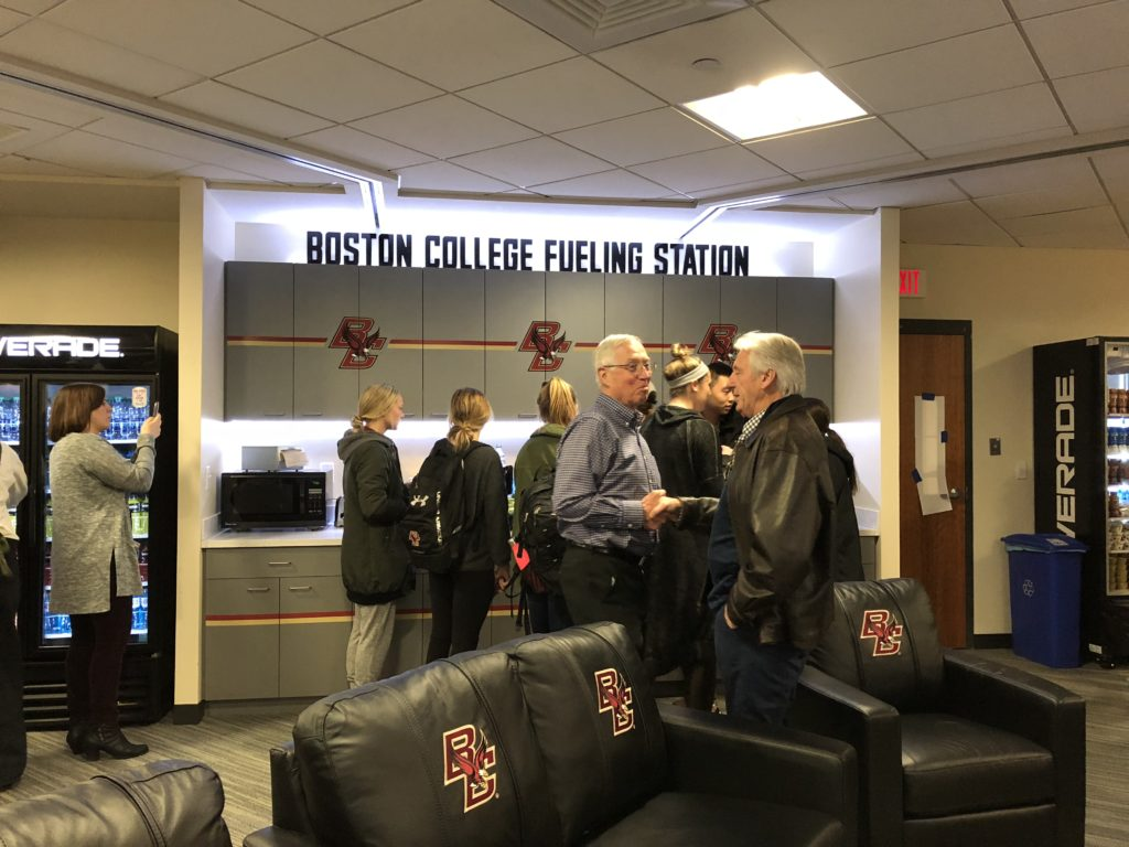 BC Athletics Unveils Student-Athlete Fueling Station
