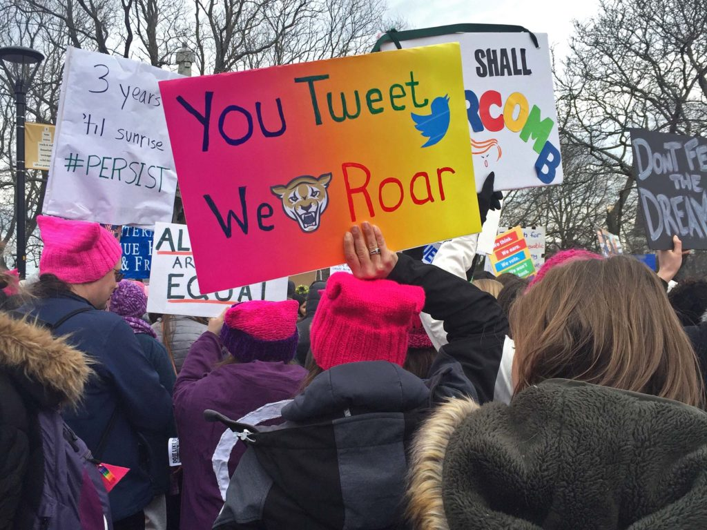 Nearly 10,000 Attend the Second Women's March in Cambridge