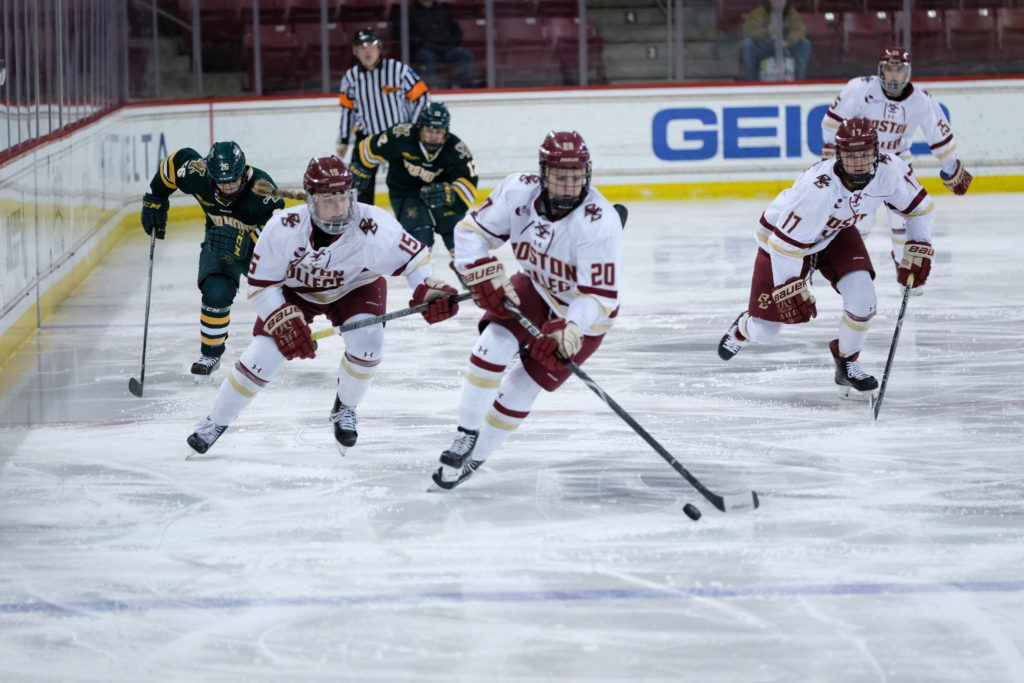 Eagles Roll to Eighth-Straight Hockey East Semifinal Appearance