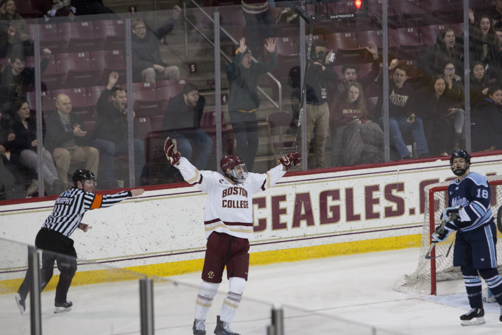 BC Clinches 16th Hockey East Regular Season Title With Pounding of Maine