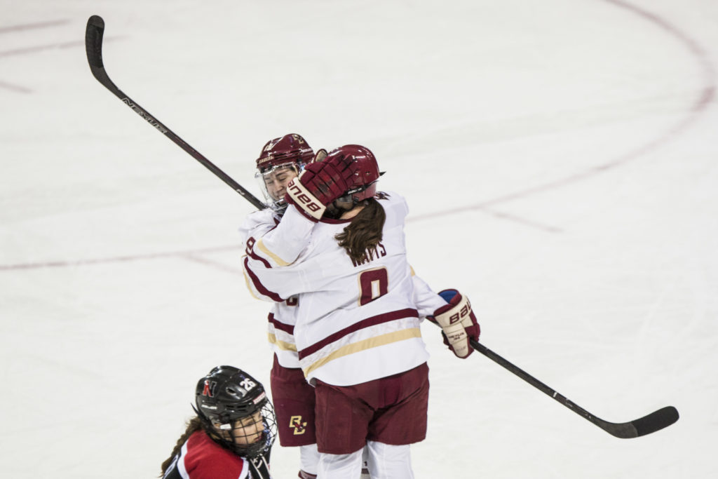 Notebook: Watts, Newkirk Headline First-Round Beanpot Victory