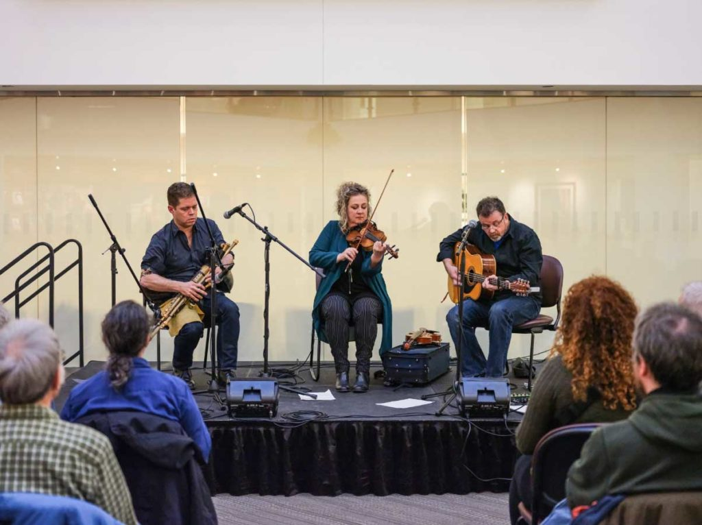 Gaelic Roots Series Featured Lively Music by Open the Door For Three