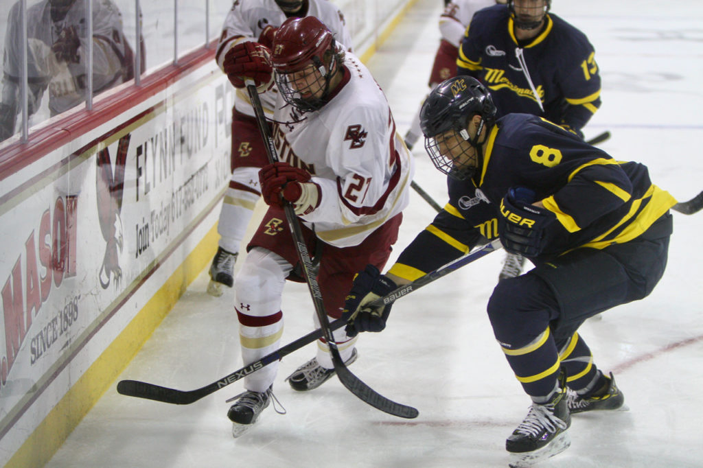 With Sweep of Merrimack, BC Advances to Hockey East Tournament Semifinals