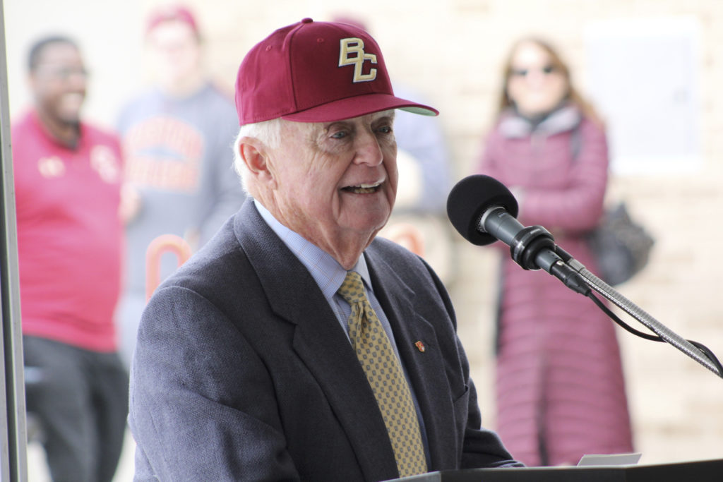 Harrington Honored by BC With Field Dedication, First Pitch