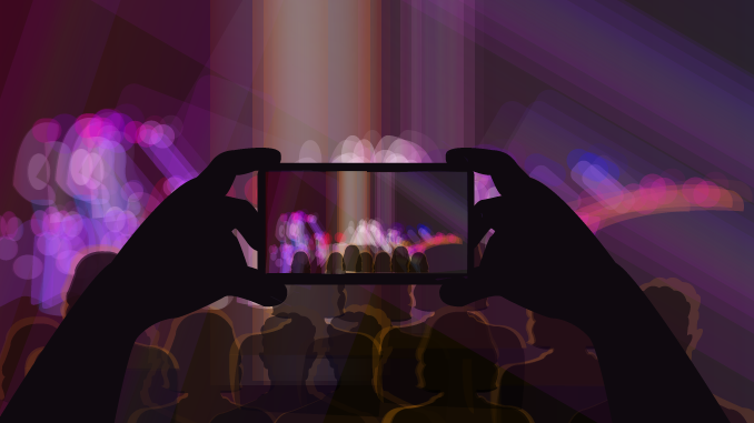 No Flash Zone: Fighting Phone Use at Concerts