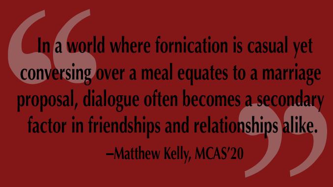 The Culminating Column, Emphasizing Dialogue