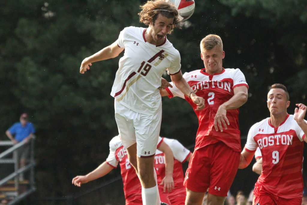 Eagles Rally Twice, Settle for Draw With Rival BU