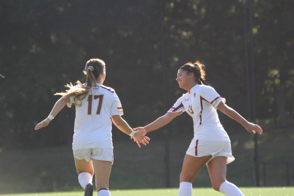 With Two Goals, Coffey Guides Eagles to Shutout Victory Over UConn