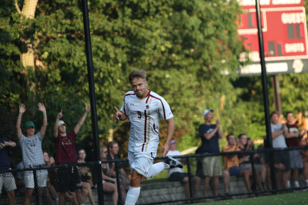 Behind Enstrom's Brace, Eagles Hang on to Beat Quinnipiac
