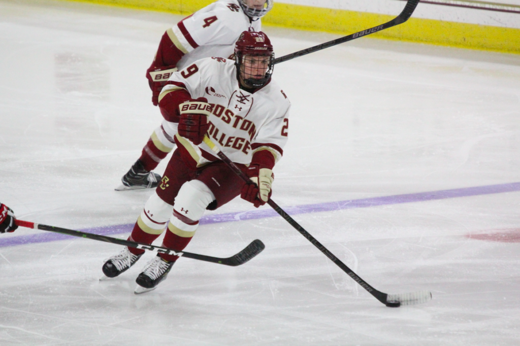BC Remains Undefeated in Hockey East Play, Rolls Past Maine