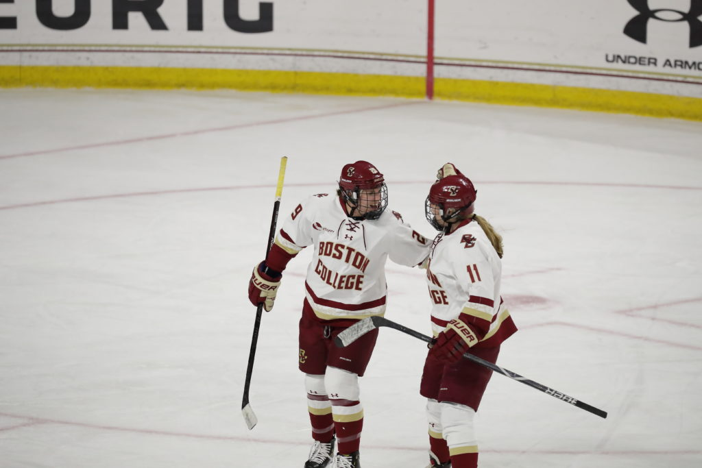 On the Back of Four-Goal Second Period, BC Trounces Holy Cross