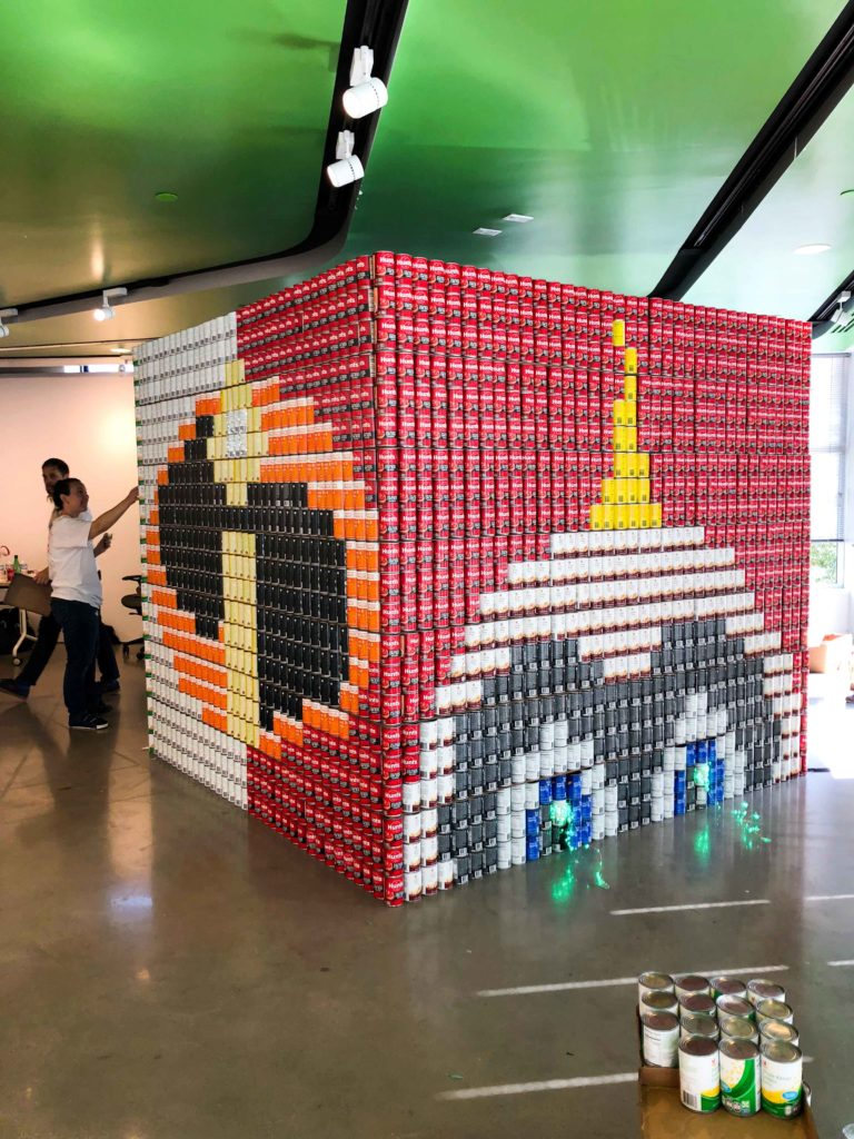 Canstruction Boston Art Pop-Up Raises Awareness Around Food Insecurity