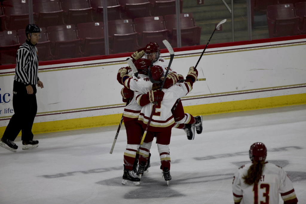 Agnew's Goal Lifts Eagles Past Saint Lawrence in OT