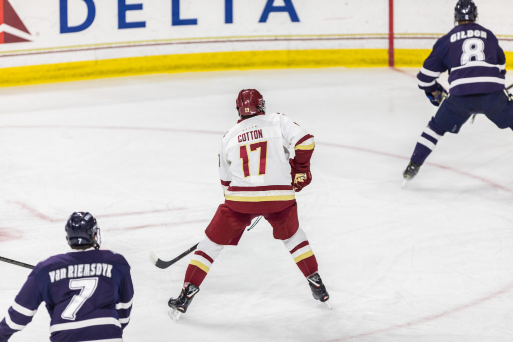 Men's Hockey Overcomes Sloppy Start, Ties New Hampshire