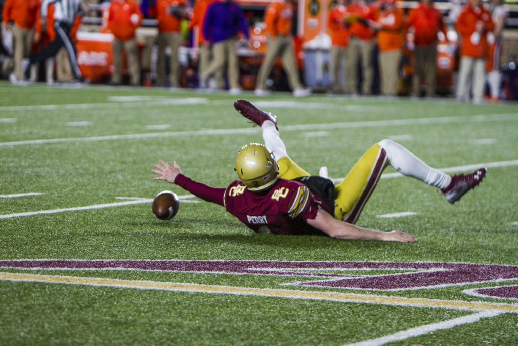 Without Brown, BC Struggles Mightily on Offense in Primetime Loss to No. 2 Clemson