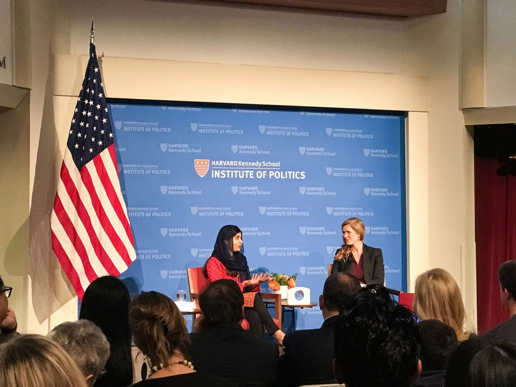 'A Conversation with Malala' Hosted at Harvard Kennedy School