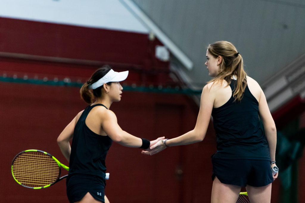 Women's Tennis Faces Its First Difficult Test, Prevails Over Yale