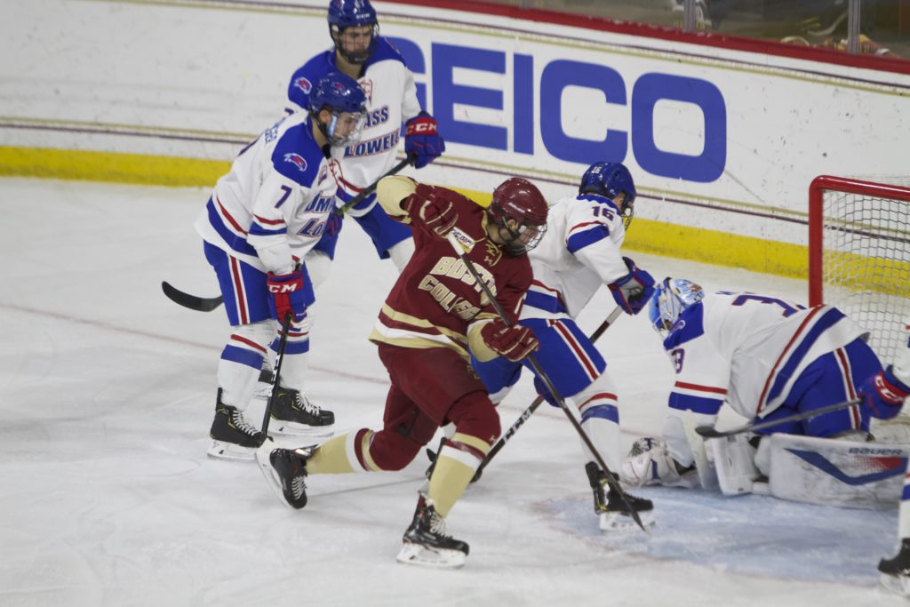 Eagles Squander Two-Goal Lead, Tie with No. 19 River Hawks