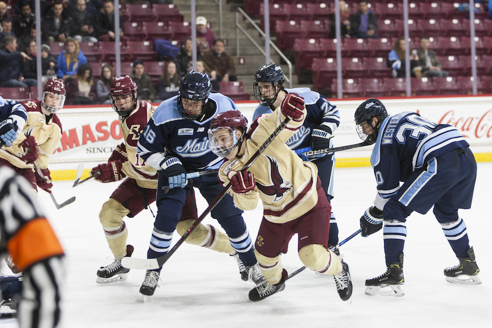 Last-Minute Flurry Not Enough, BC Falls to Maine