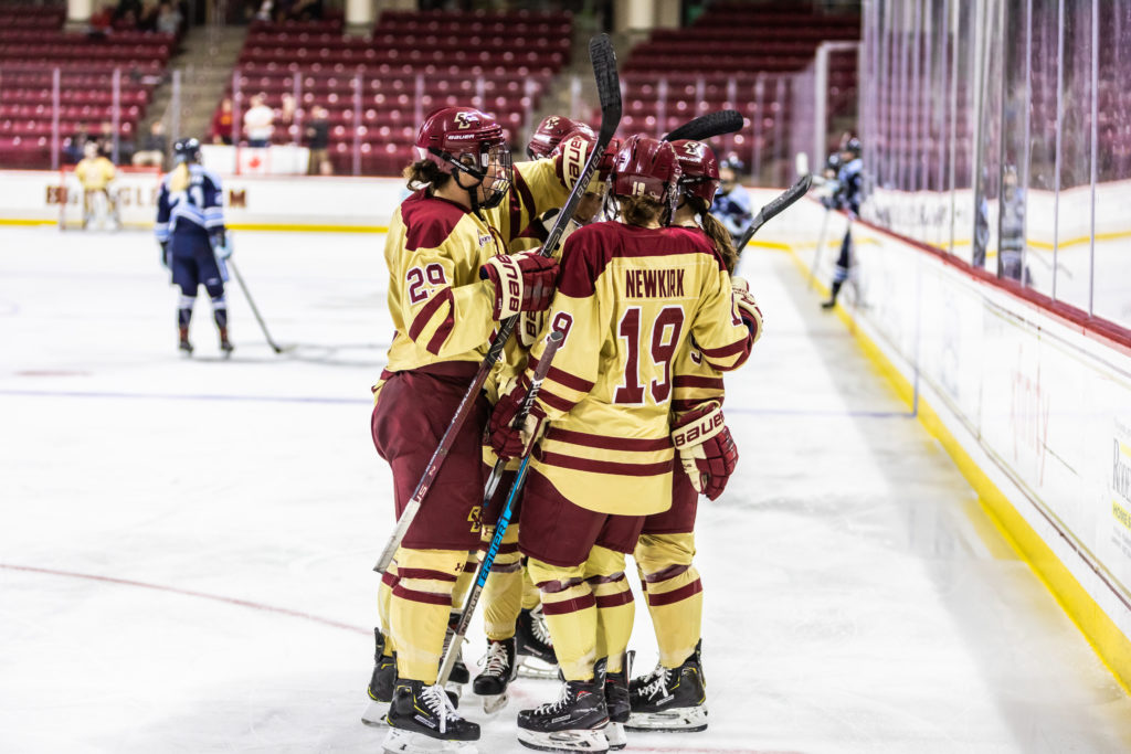 Eagles Win Fourth Straight, Cruise Past Maine on Senior Night