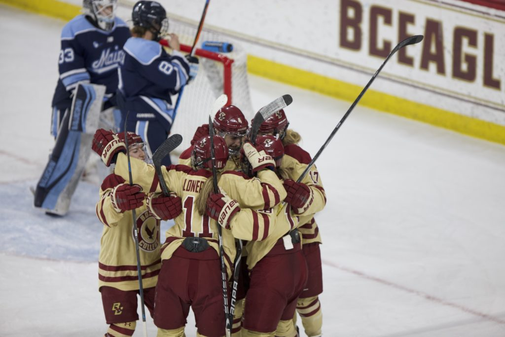 Crowley Earns 300th Career Win as BC Slips Past Maine