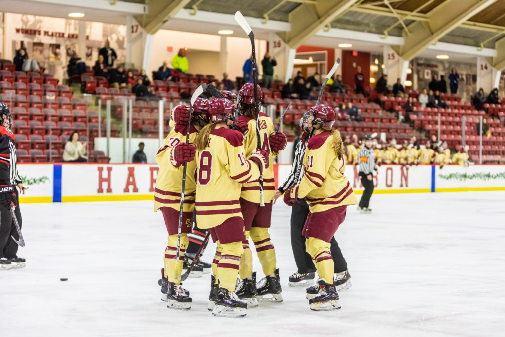 Watts, Keller Lead Eagles Past Huskies in Beanpot Consolation