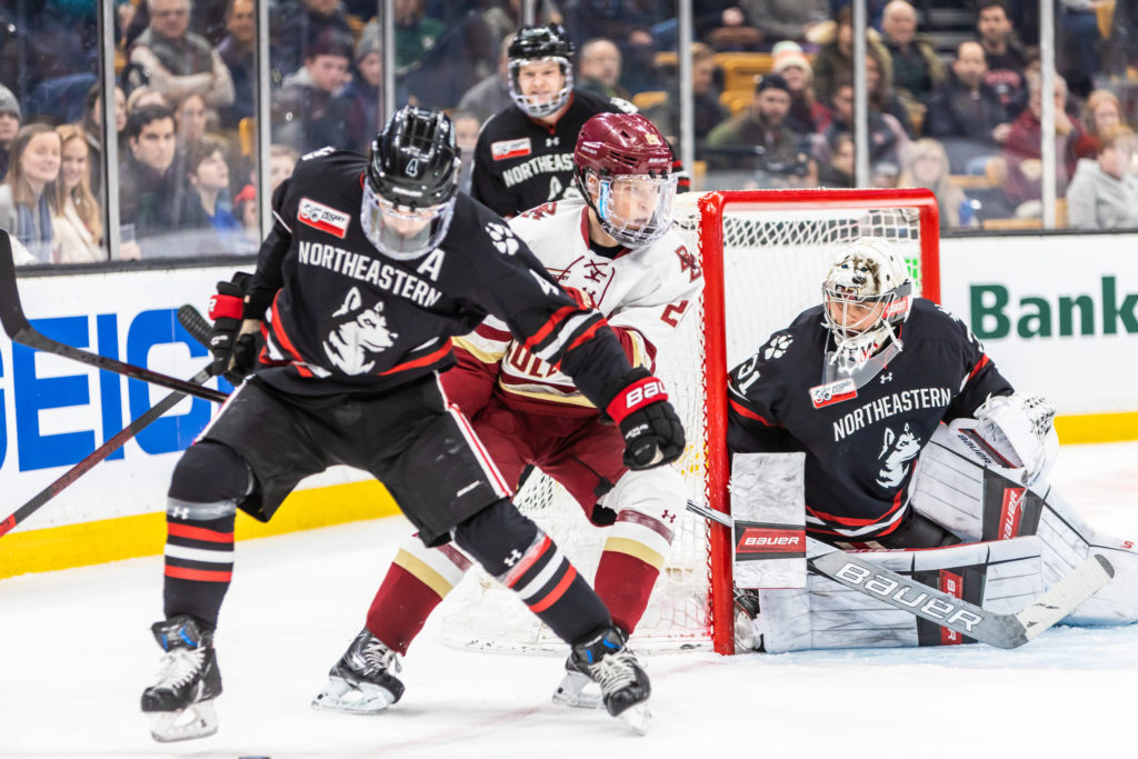 Despite Third-Period Rally, Eagles Fall to Northeastern in Beanpot Final