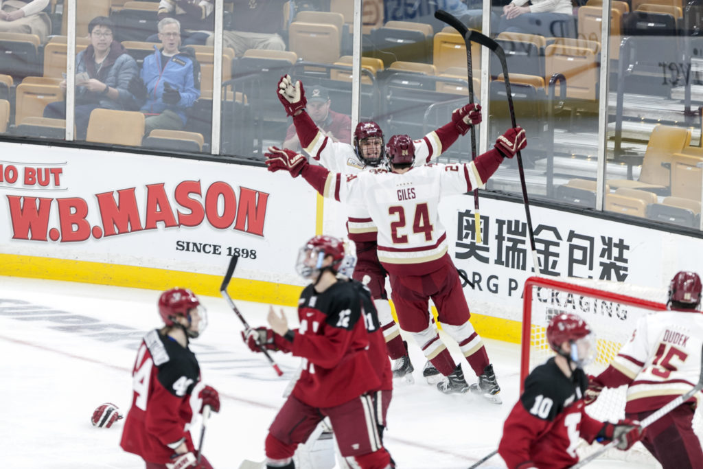 Freshmen, Woll Step Up to Beat Harvard, Snap Four-Game Beanpot Skid