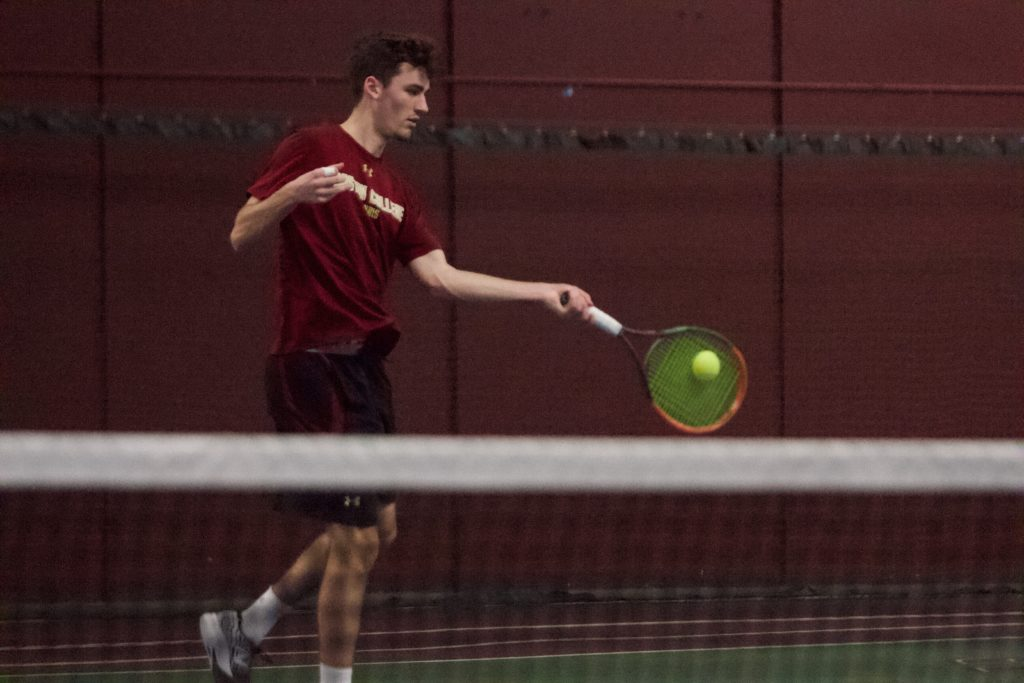 Men's Tennis Notches Weekend Sweep Over SNHU and BU