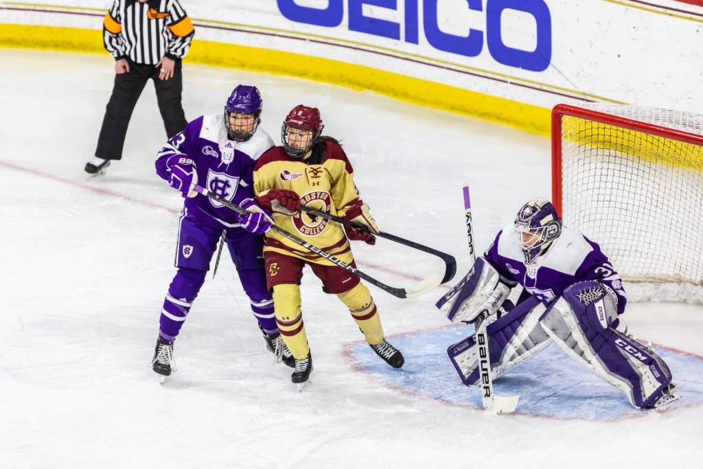 Six Different Players Score for BC in Rout of Holy Cross