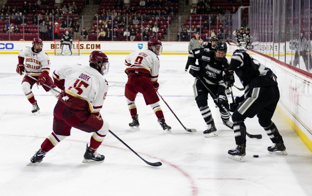 Hutsko Helps BC Force Game 3 Against No. 7 Providence in Hockey East Quarterfinals