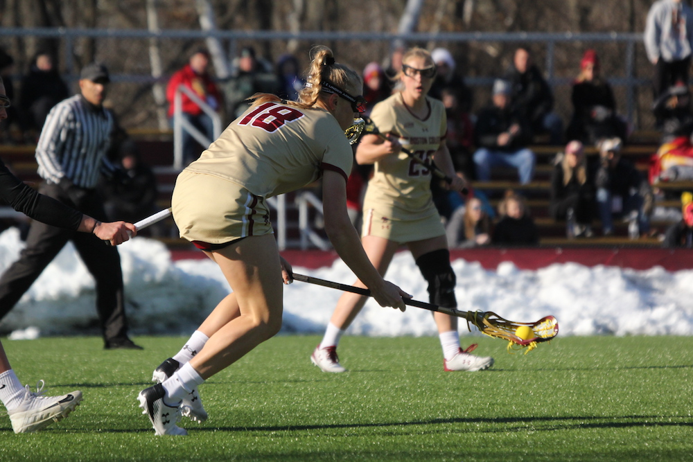 Kent, Arsenault Lift Eagles in High-Scoring Shootout With No. 5 Northwestern