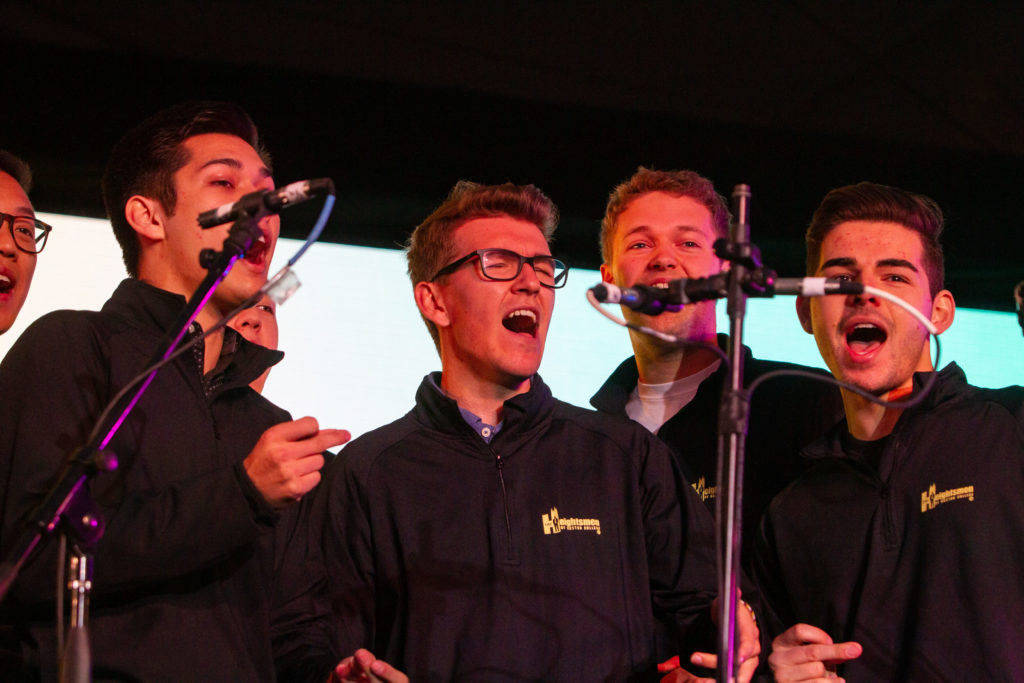 A Capella Groups Brighten Rainy Day at Showcase