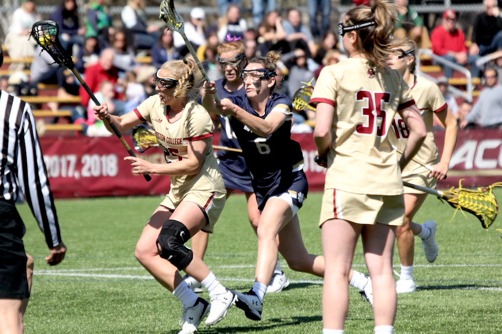 Eagles Fend Off Second Half Push From No. 5 Irish, Stay Perfect
