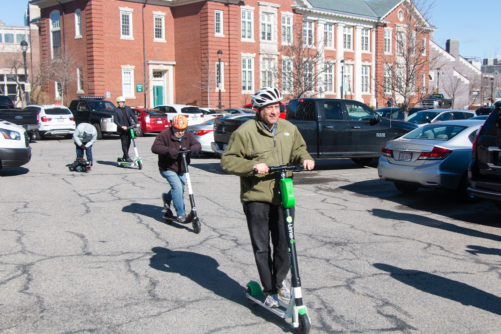Electronic Scooters Come to Brookline