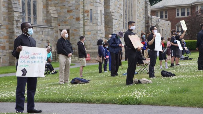 BC Students, Jesuits Hold Black Lives Matter Demonstration