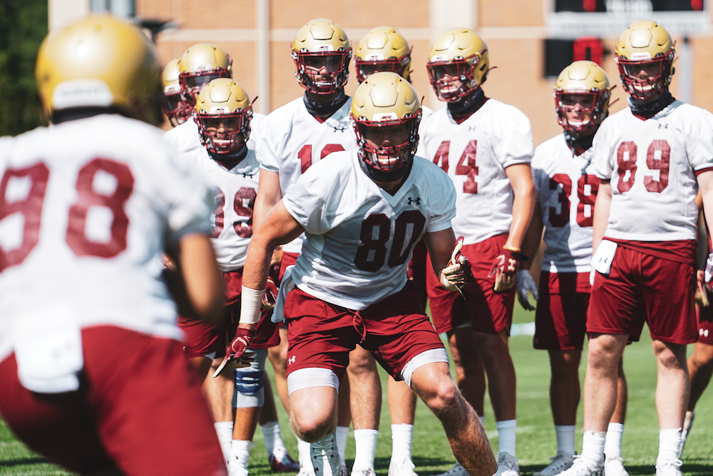 BC Football Takes Training Camp One Step at a Time